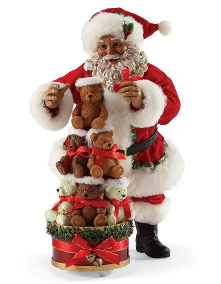 Bearly Christmas - African American Santa Claus