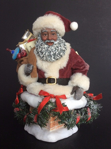 hurry down the chimney african american santa claus - African American Outdoor Christmas Decorations