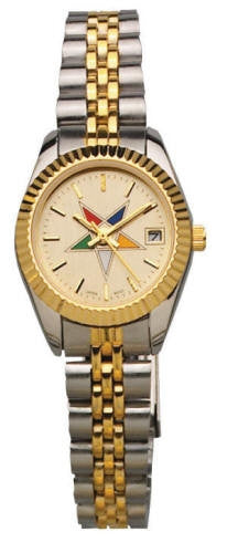 Eastern Star watch - two tone color with OES star
