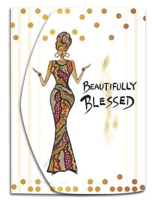 Beautifully Blessed -  Mini note pad by Cidne Wallace