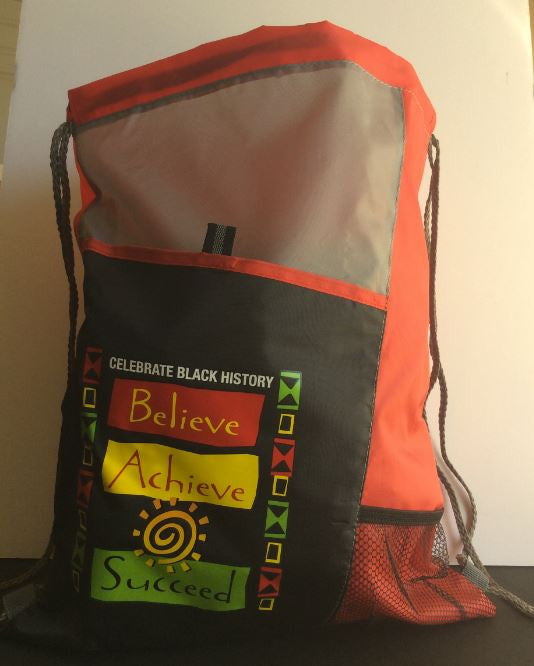 Believe Achieve Succeed - drawstring backpack