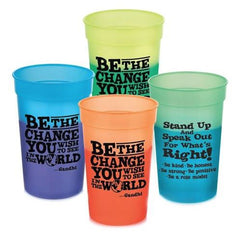 Be The Change You Wish To See - plastic cups