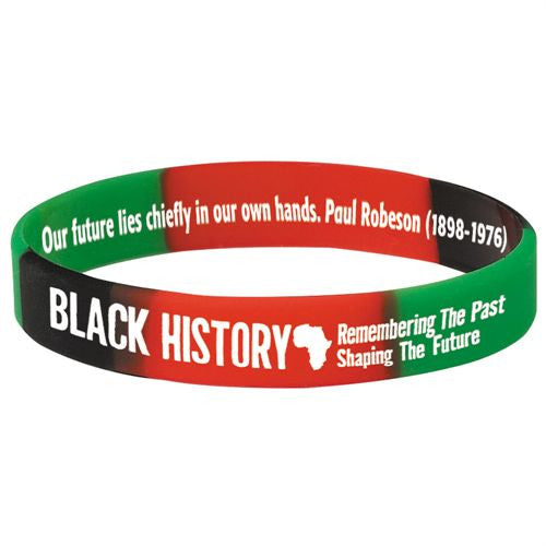 Black History - silicone bracelet - red green black - thin