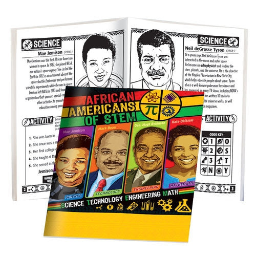 African Americans of STEM - Black History Activity book