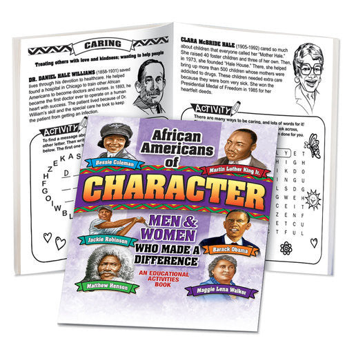 Black History Activity book - African Americans of Character