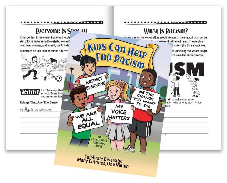 Black History Activity book - Kids Can Help End Racism