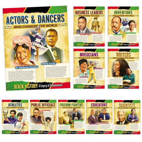 Black History Posters (set of 10) - A Legacy of Achievement