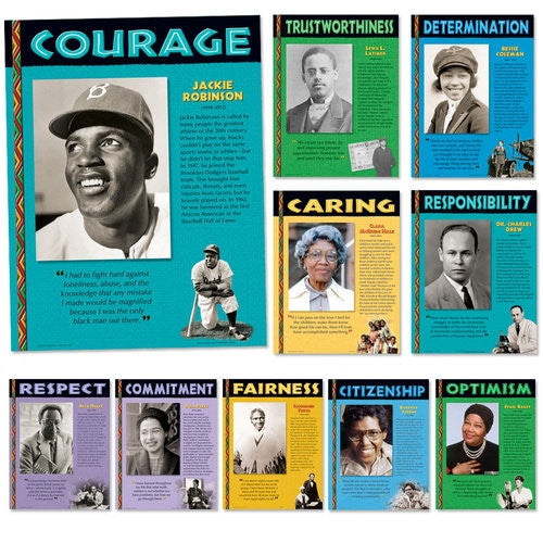 Black History Posters (set of 10) - African Americans of Character