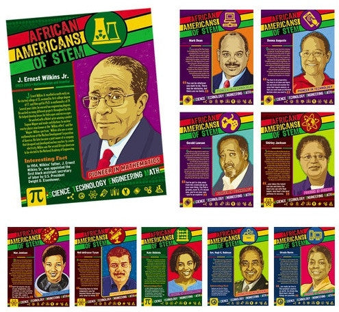 African Americans of STEM - Black History Posters (set of 10)