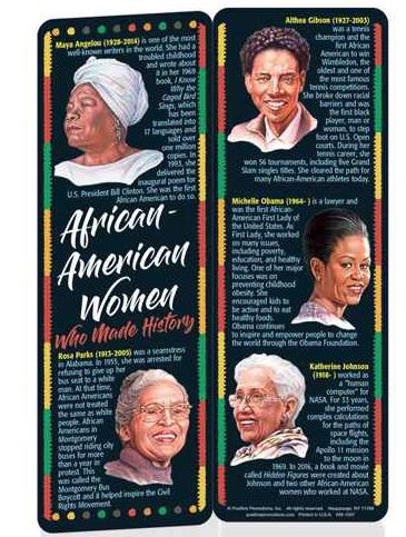 Black History bookmark - African American Women