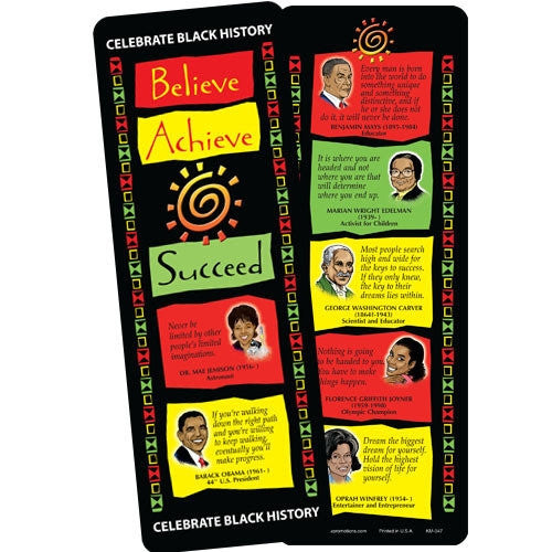 Believe Achieve Succeed - bookmark