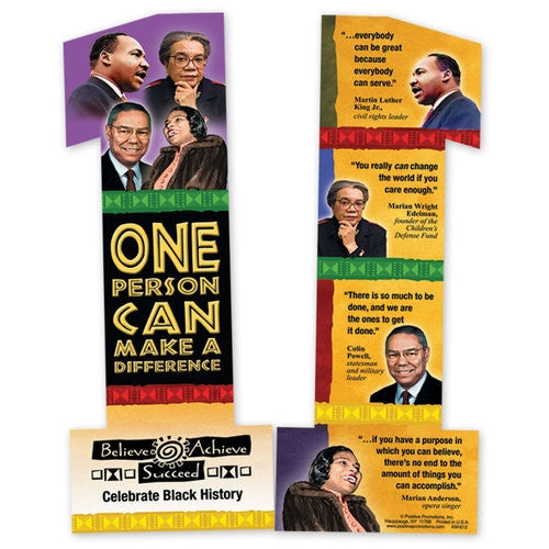 Black History bookmark - One Person Can Make a Difference