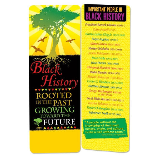 Black History bookmark - Rooted in the Past Growing Toward the Future