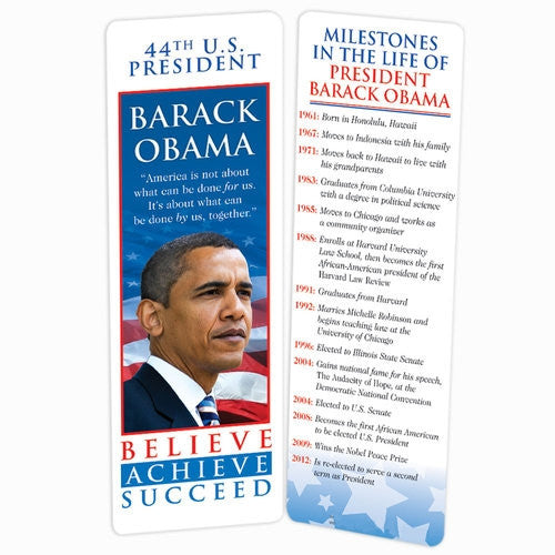 President Obama - bookmark with timeline