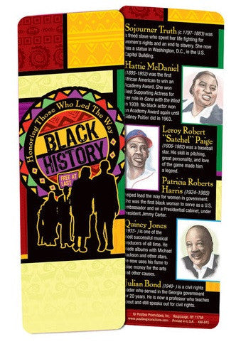 Black History bookmark - Honoring Those Who Led The Way