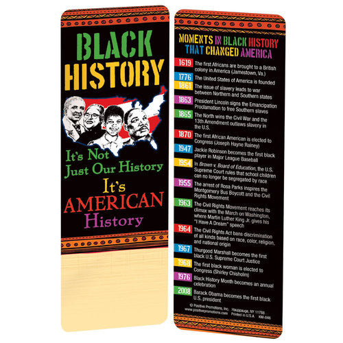Black History bookmark - It's Not Just Our History