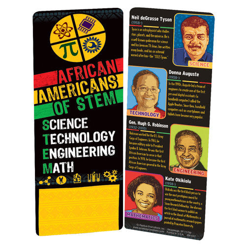 African Americans of STEM - Black History bookmark
