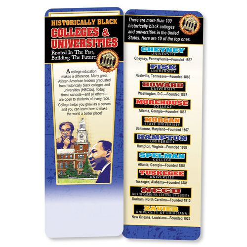 Black History bookmark - Historically Black Colleges