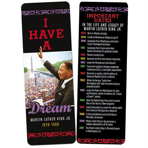 Martin Luther King - bookmark - I Have A Dream
