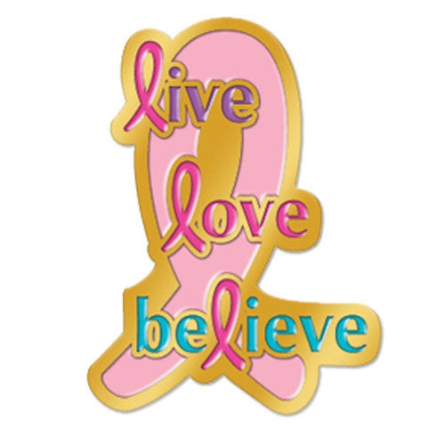 Live Love Believe - lapel pin