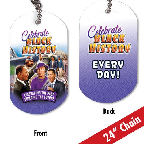 Black History dog tag - Celebrate Black History