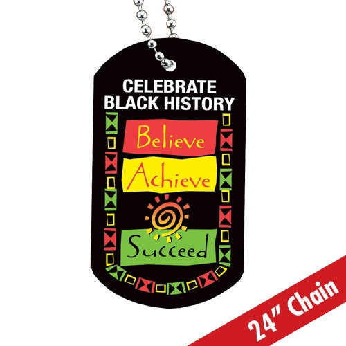 Believe Achieve Succeed - dog tag