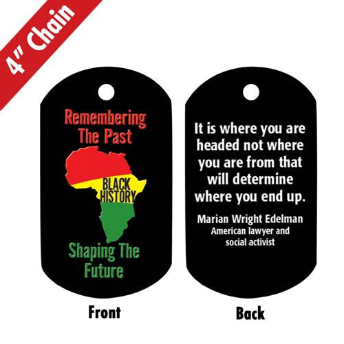 Black History backpack tag - Remembering and Shaping