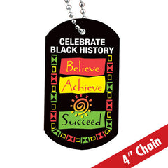 Believe Achieve Succeed - backpack tag