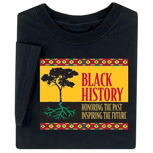 Black History t-shirt - Honoring The Past - youth