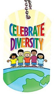 Black History backpack tag - Celebrate Diversity
