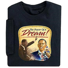 Black History t-shirt - The Power of a Dream - adult
