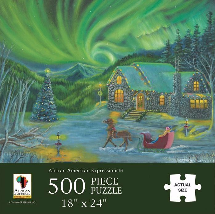 Christmas Northern Lights - 500 piece jigsaw puzzle