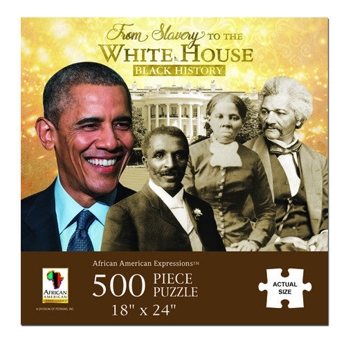From Slavery to the White House -  jigsaw puzzle - 500 piece