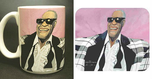 Ray Charles - coffee mug and mousepad