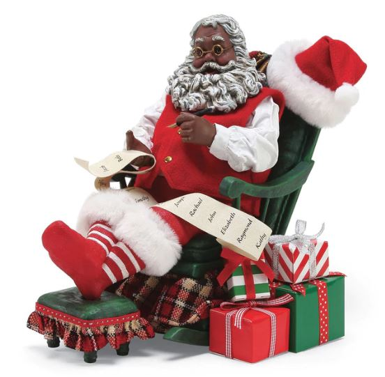 santa rockin steady african american santa claus - African American Outdoor Christmas Decorations