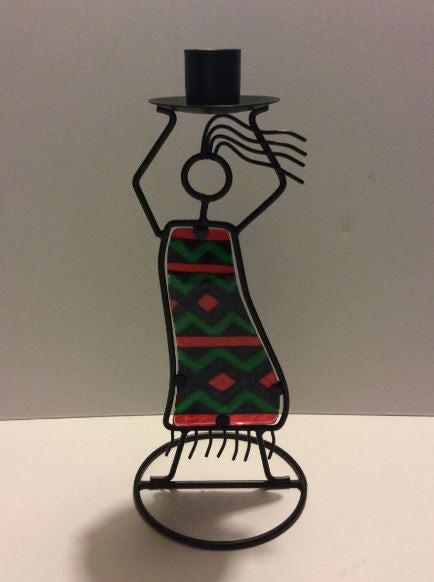 Kwanzaa single taper - candleholder