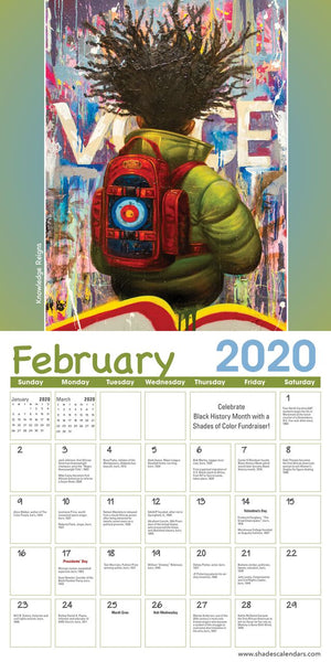 Shades Of Color Kids 2020 African American Wall Calendar