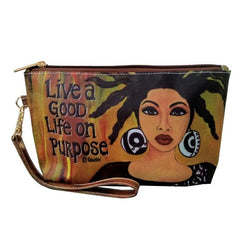 Live A Good Life On Purpose - Gbaby - cosmetic pouch