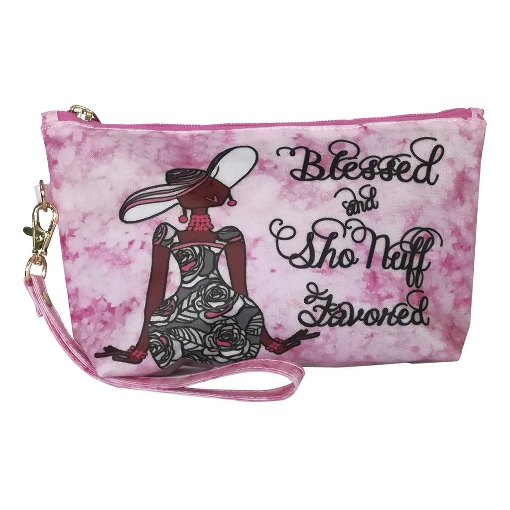 Blessed and Sho Nuff Favored - cosmetic pouch