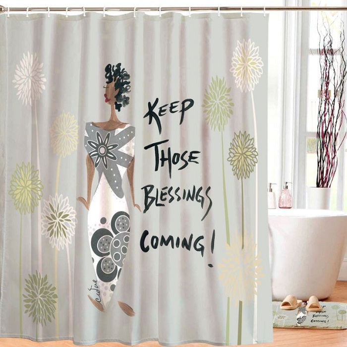 Keep Those Blessings Coming - shower curtain