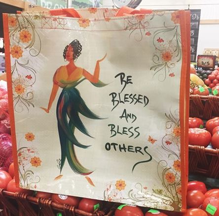 Be Blessed and Bless Others - shopping bag