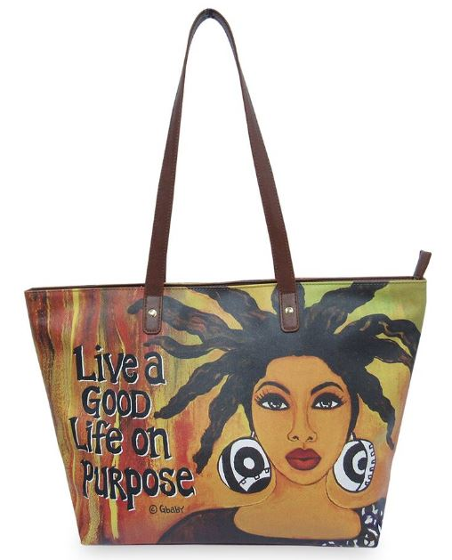 Live A Good Life On Purpose - bucket style handbag