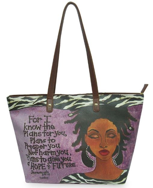 For I Know The Plans For You - bucket style handbag