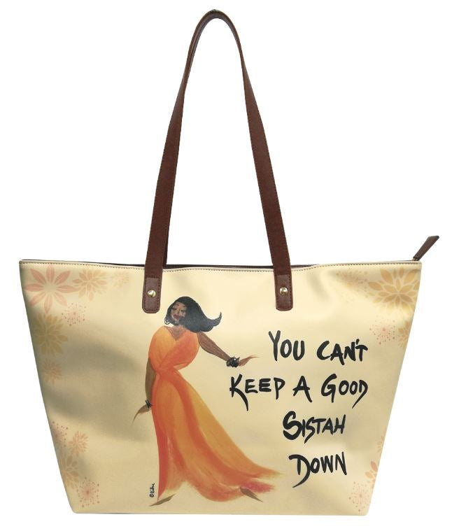 You Cant Keep A Good Sistah Down - bucket style handbag