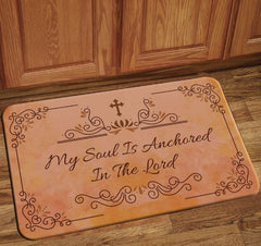 My Soul Is Anchored - floor mat