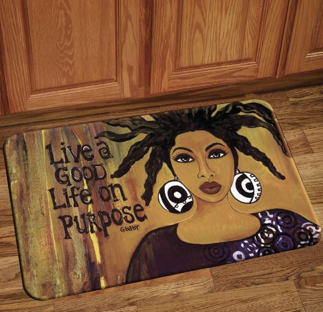 Live A Good Life On Purpose - floor mat