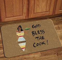 God Bless The Cook - floor mat
