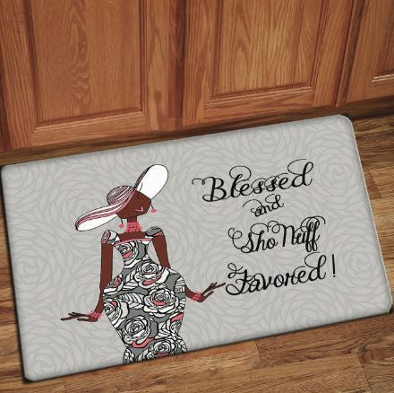 Blessed And Sho Nuff Favored - floor mat