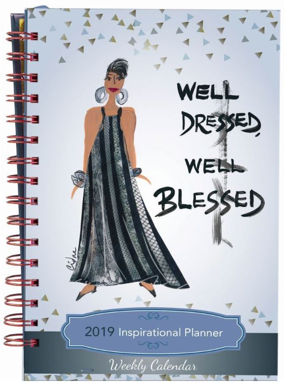 Well Dressed Well Blessed - 2019 weekly planner