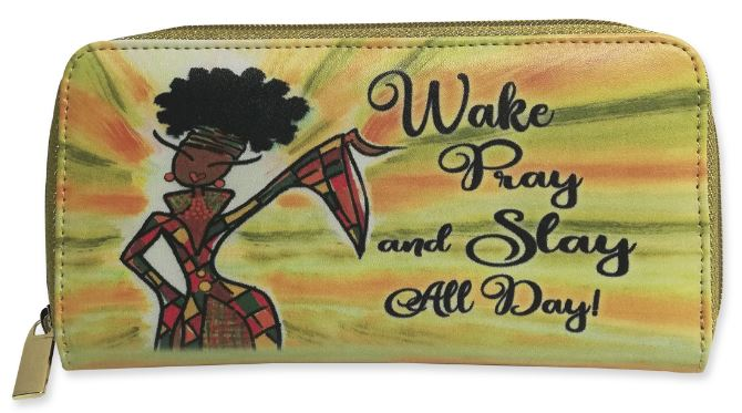 Wake Pray Slay All Day - ladies wallet